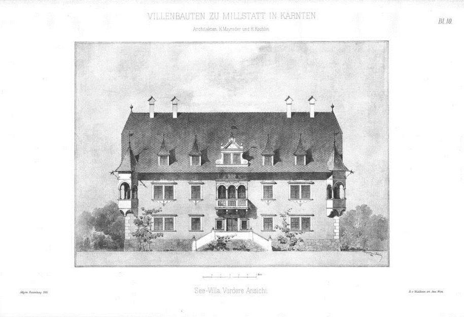 Skizze der See-Villa von 1883