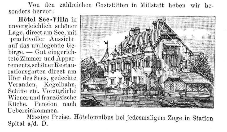 Historischer Zeitungsbericht über die See-Villa